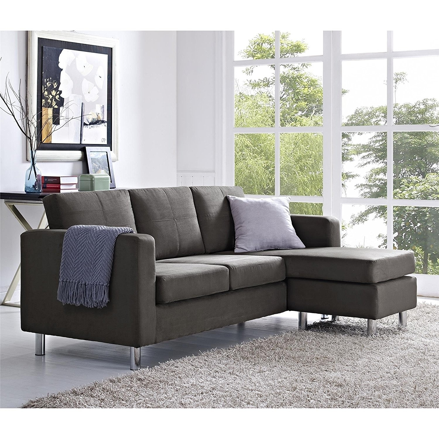 Crammed Sectionals For Small Spaces Inspirational Dorel Sectional with regard to Canada Sectional Sofas for Small Spaces (Image 2 of 10)