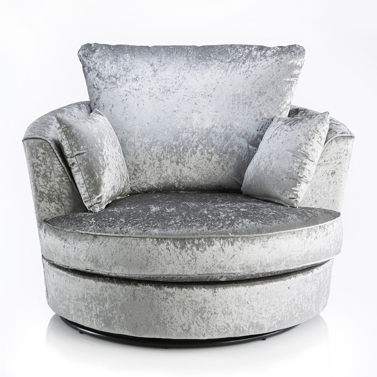 Crushed Velvet Furniture | Sofas, Beds, Chairs, Cushions Throughout Sofas With Swivel Chair (View 6 of 10)