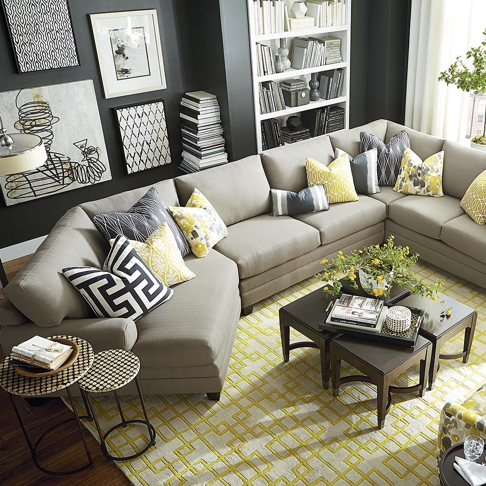 Cu.2 Cuddler L-Shaped Sectional | Window, Pillows And Rounding within Sectional Sofas at Bassett (Image 7 of 15)