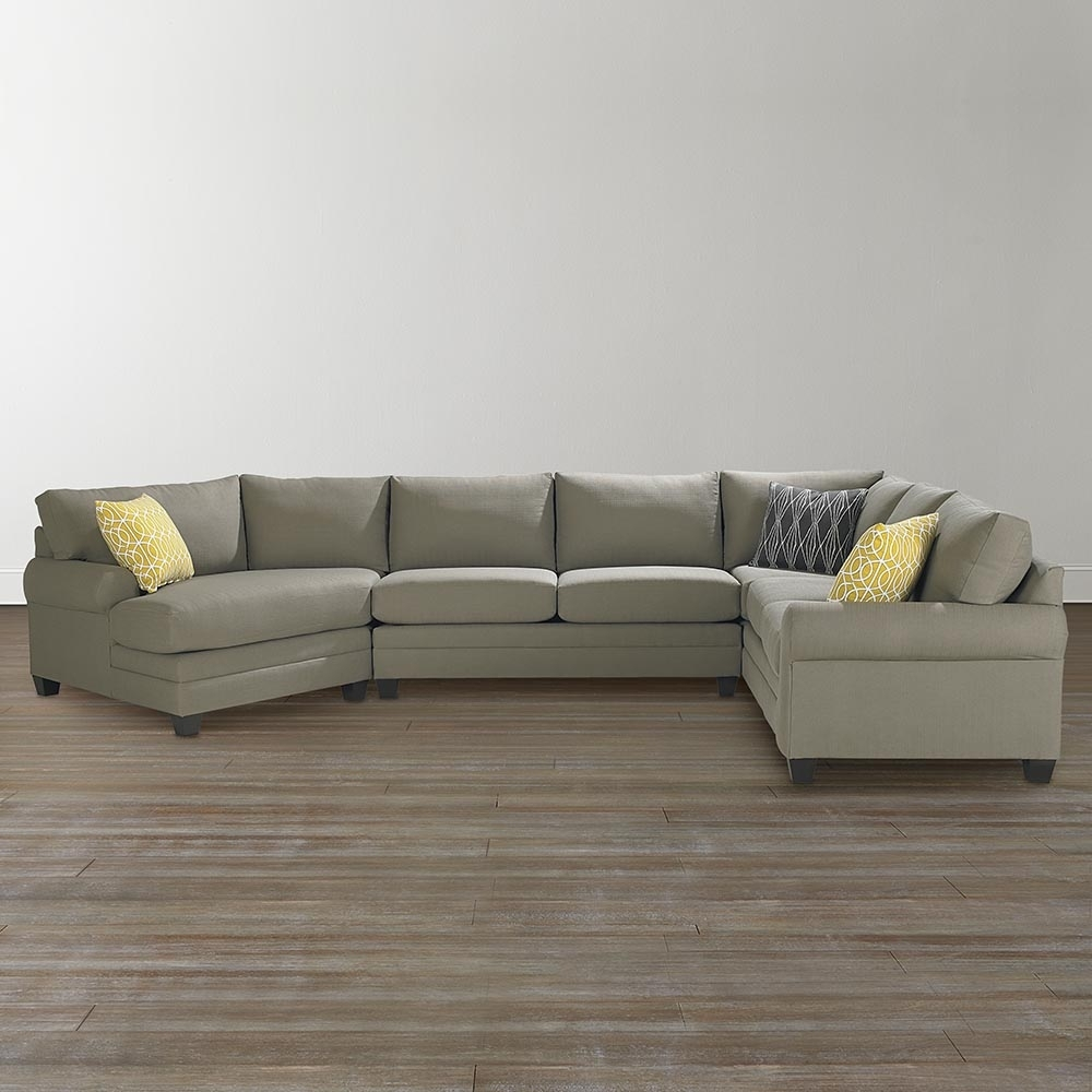 Cu.2 Left Cuddler Sectional Sofa | Bassett Home Furnishings inside Sectional Sofas With Cuddler (Image 3 of 10)