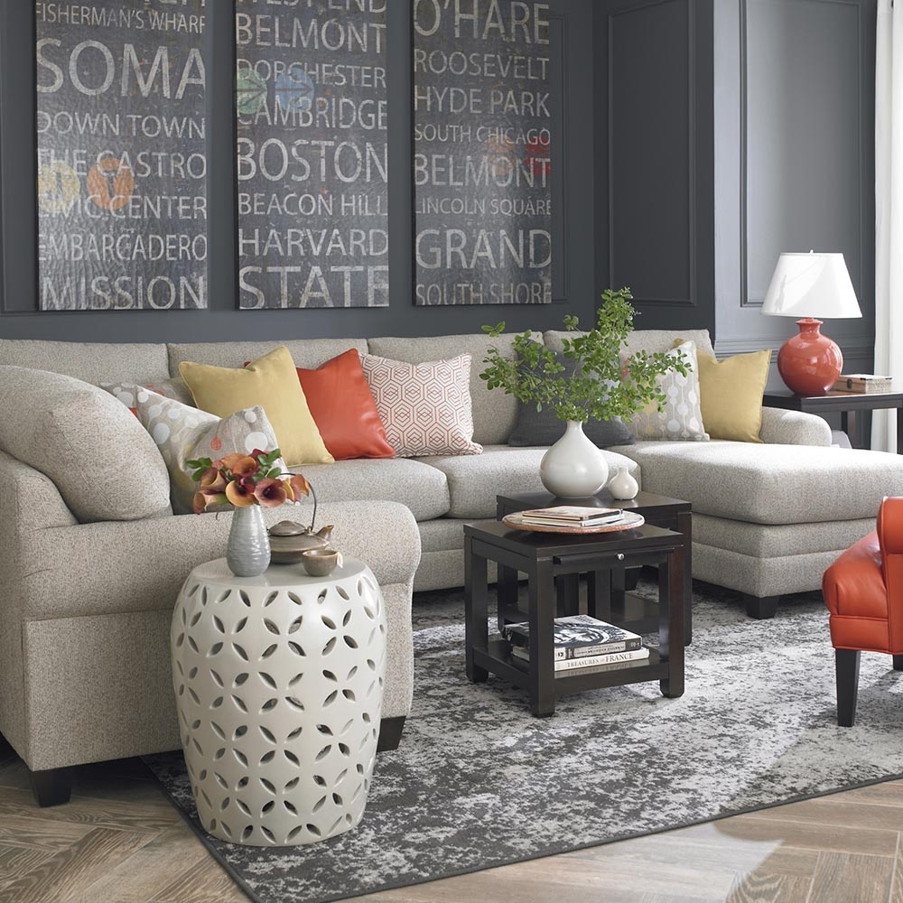 Cu.2 U Shaped Sectional Furniture | Bassett Home Furnishings with regard to Sectional Sofas at Bassett (Image 8 of 15)