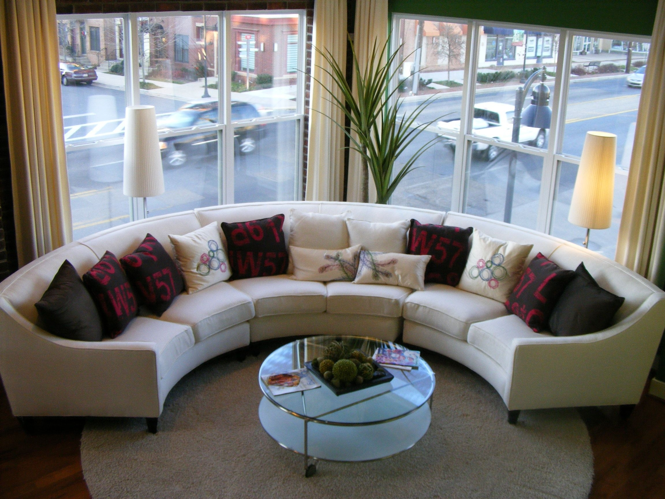 Curved Couches | Round Sofa Sectional | Curved Sofa Sectionals for Circular Sectional Sofas (Image 1 of 10)