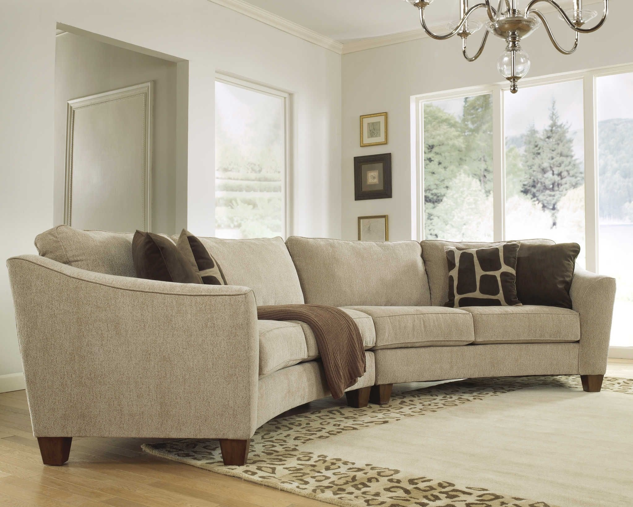 Curved Sectional Sofa Set - Rich Comfortable Upholstered Fabric for Dania Sectional Sofas (Image 3 of 10)