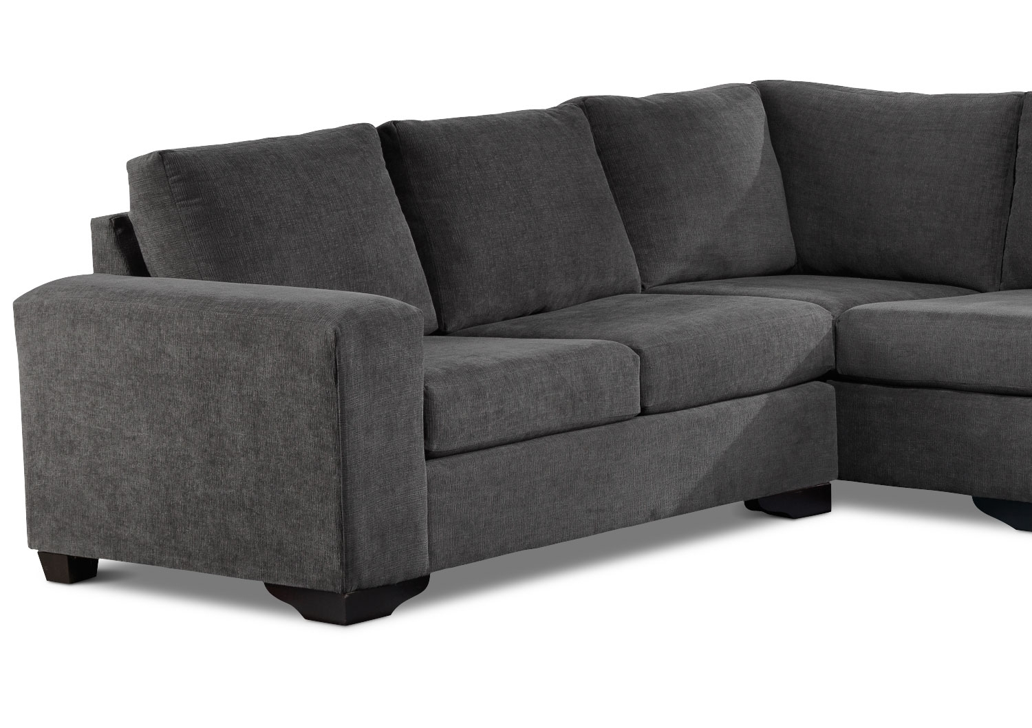 Danielle 3-Piece Sectional With Right-Facing Corner Wedge - Grey pertaining to Leons Sectional Sofas (Image 3 of 10)