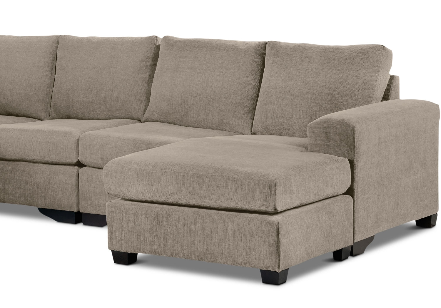 Danielle 3-Piece Sectional With Right-Facing Corner Wedge - Pewter pertaining to Leons Sectional Sofas (Image 5 of 10)