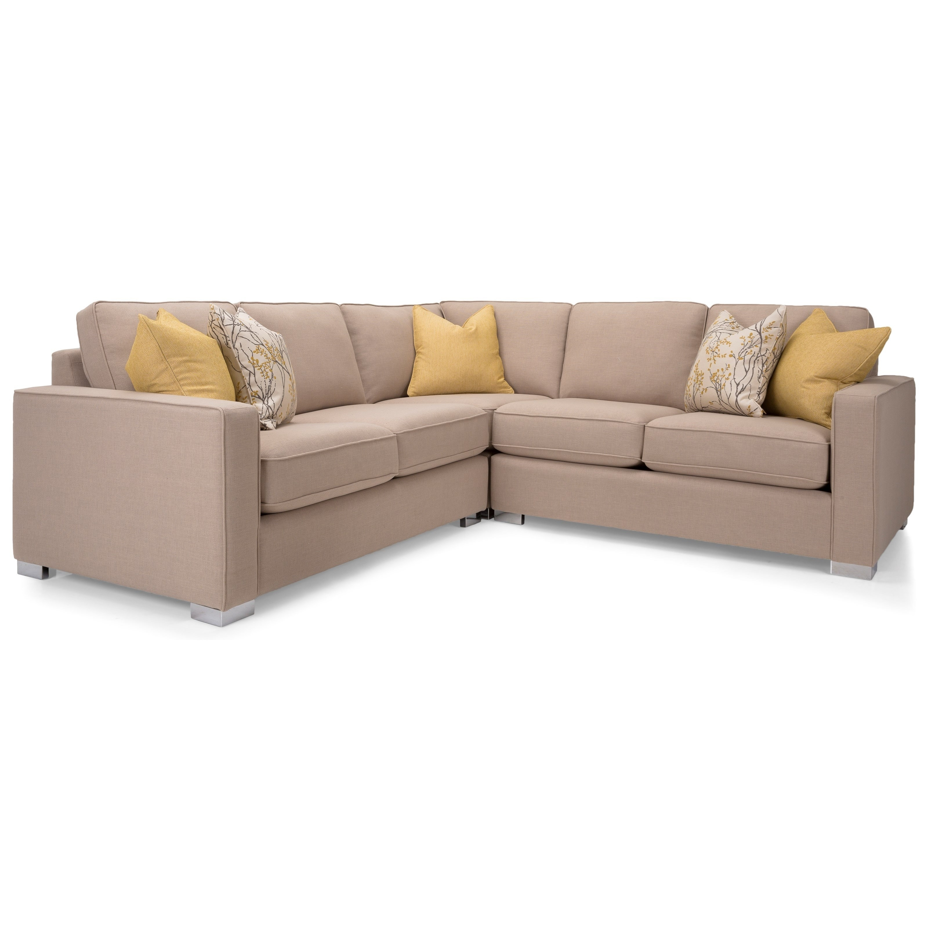 Decor-Rest 7743 Three Piece Corner Sectional Sofa | Stoney Creek within Vaughan Sectional Sofas (Image 2 of 10)