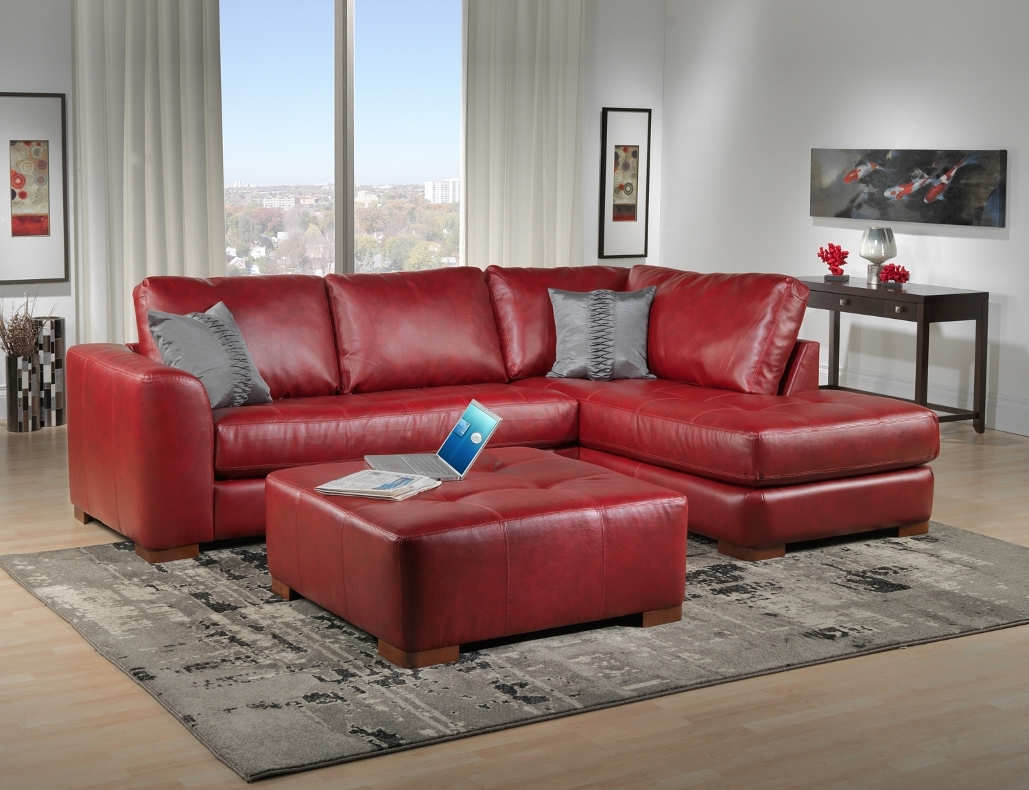 Decorating Ideas Living Room Red Leather Sofa | Living Room Ideas for Red Leather Couches for Living Room (Image 3 of 15)