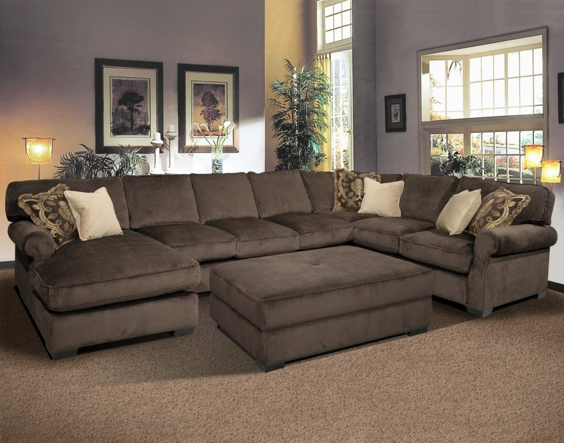 Deep Seated Sectional Couches | Baccarat 3 Pc Sectional Product No Inside Sofas With Chaise And Ottoman (View 9 of 10)