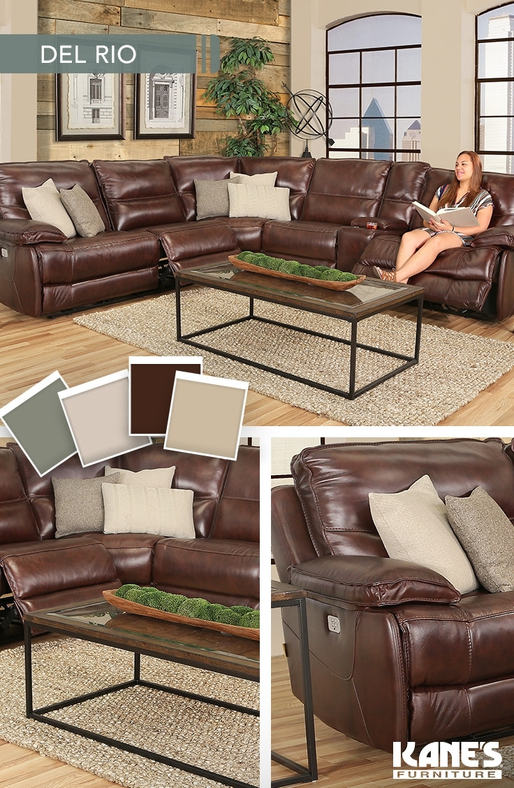 Del Rio 6 Piece Power Reclining Leather Sectional | Del Rio, Power Pertaining To Kanes Sectional Sofas (View 2 of 10)