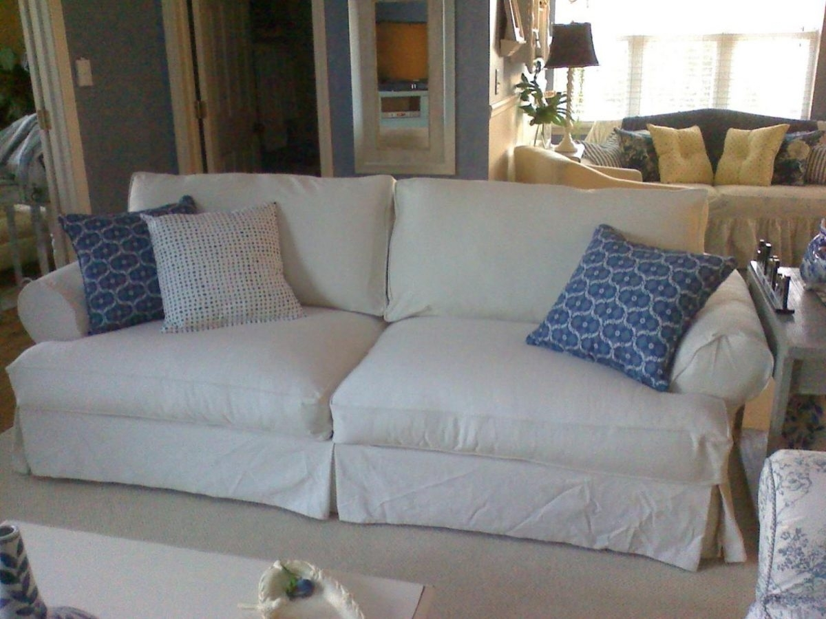 Denim Sofas Sofa Washable Covers Slipcover Heavy Duty Slipcovers And Throughout Sofas With Washable Covers (View 3 of 10)