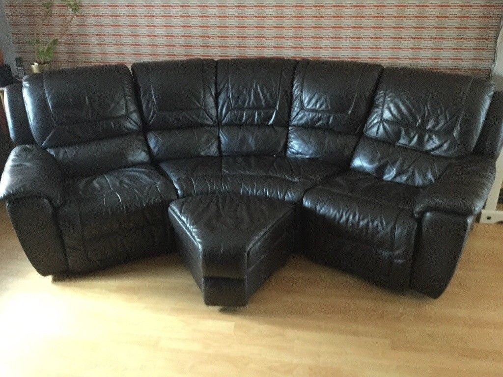 Dfs Curved Leather Recliner Sofa | In Attleborough, Norfolk | Gumtree Regarding Curved Recliner Sofas (View 3 of 10)