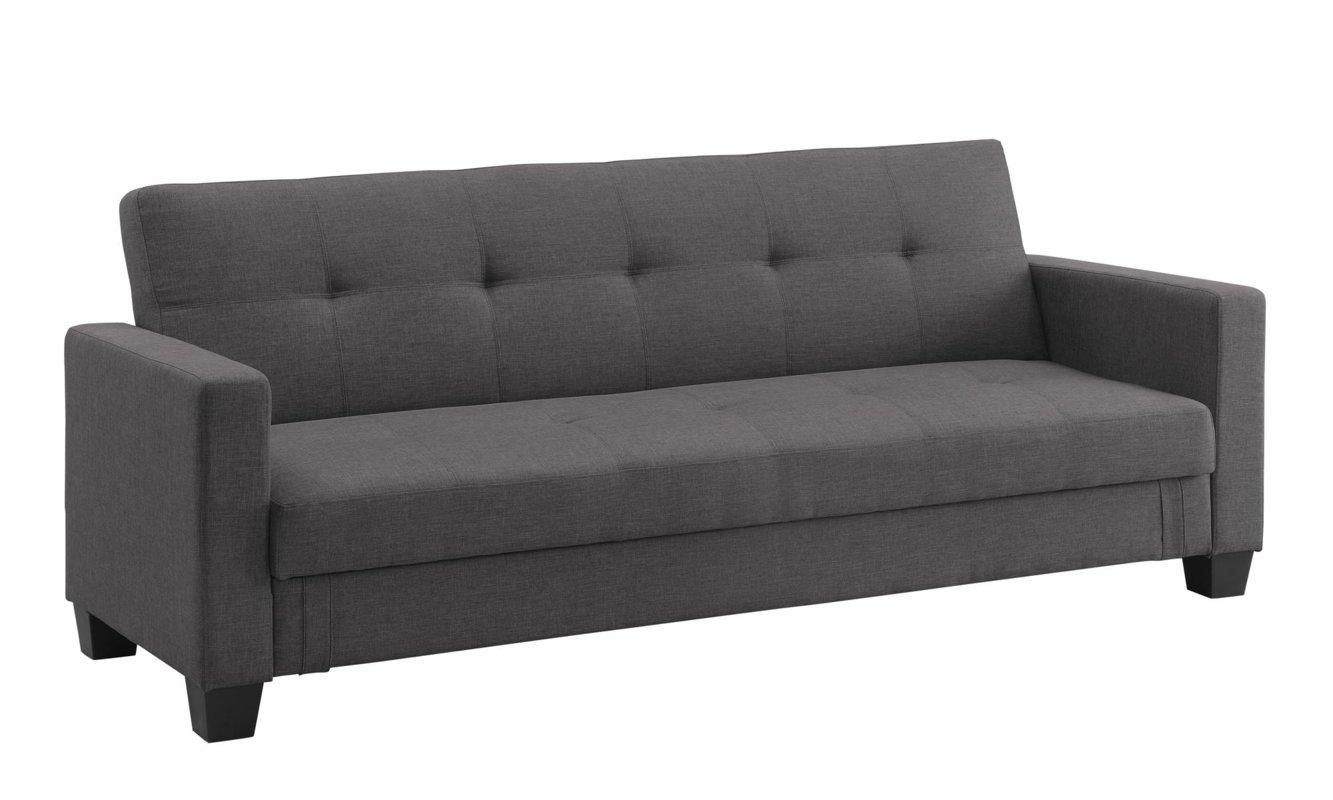 Dhp Leighton Convertible Sofa & Reviews | Wayfair intended for Convertible Sofas (Image 3 of 10)