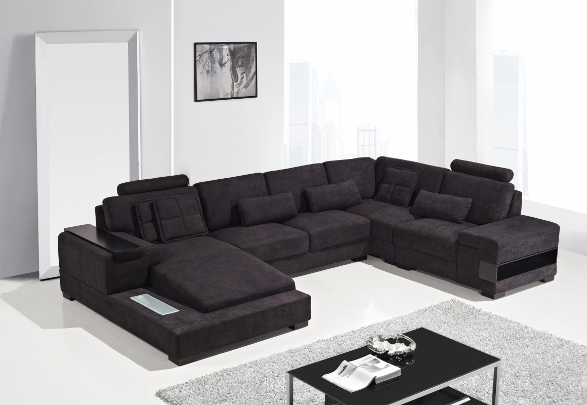 Divani Casa Diamond - Modern Fabric Sectional Sofa - Italmoda within Nashua Nh Sectional Sofas (Image 1 of 10)