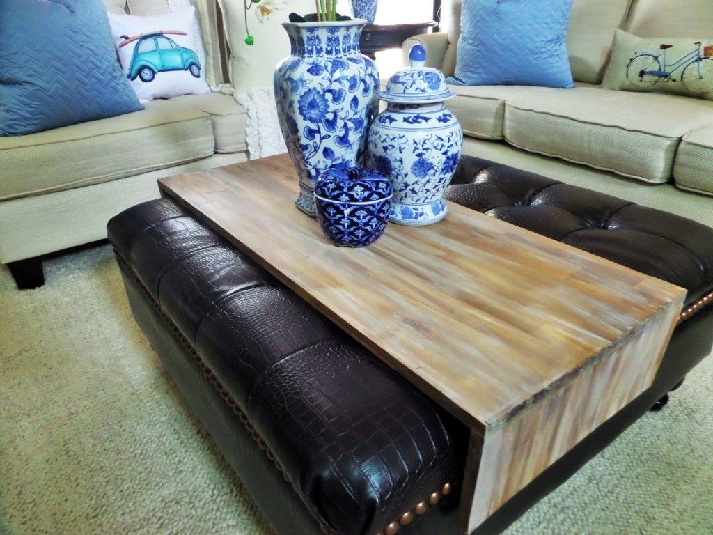 Diy Wrap Around Ottoman Tray | Home Decor | Pinterest | Ottomans Pertaining To Ottomans With Tray (View 3 of 15)