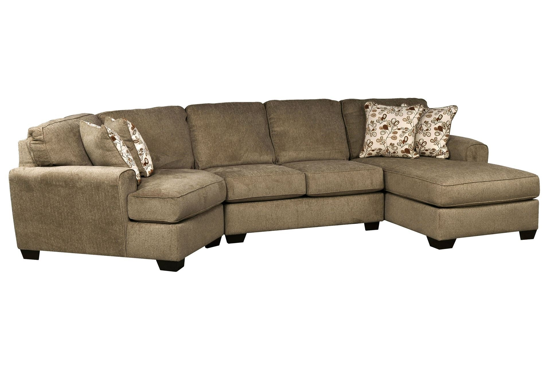 Don't Love The Color, But The Shape Is Great! | Patola Park 3 Piece Throughout Sectional Sofas With Cuddler Chaise (View 3 of 10)