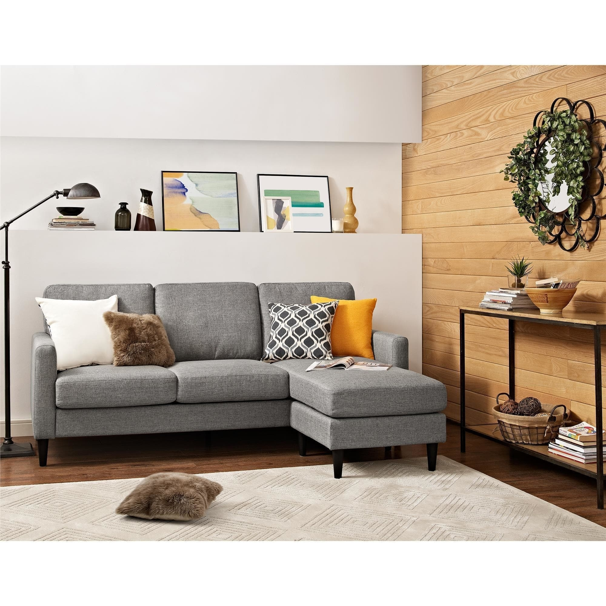 Dorel Living Kaci Grey Sectional Sofa - Free Shipping On Orders Over in Overstock Sectional Sofas (Image 5 of 10)