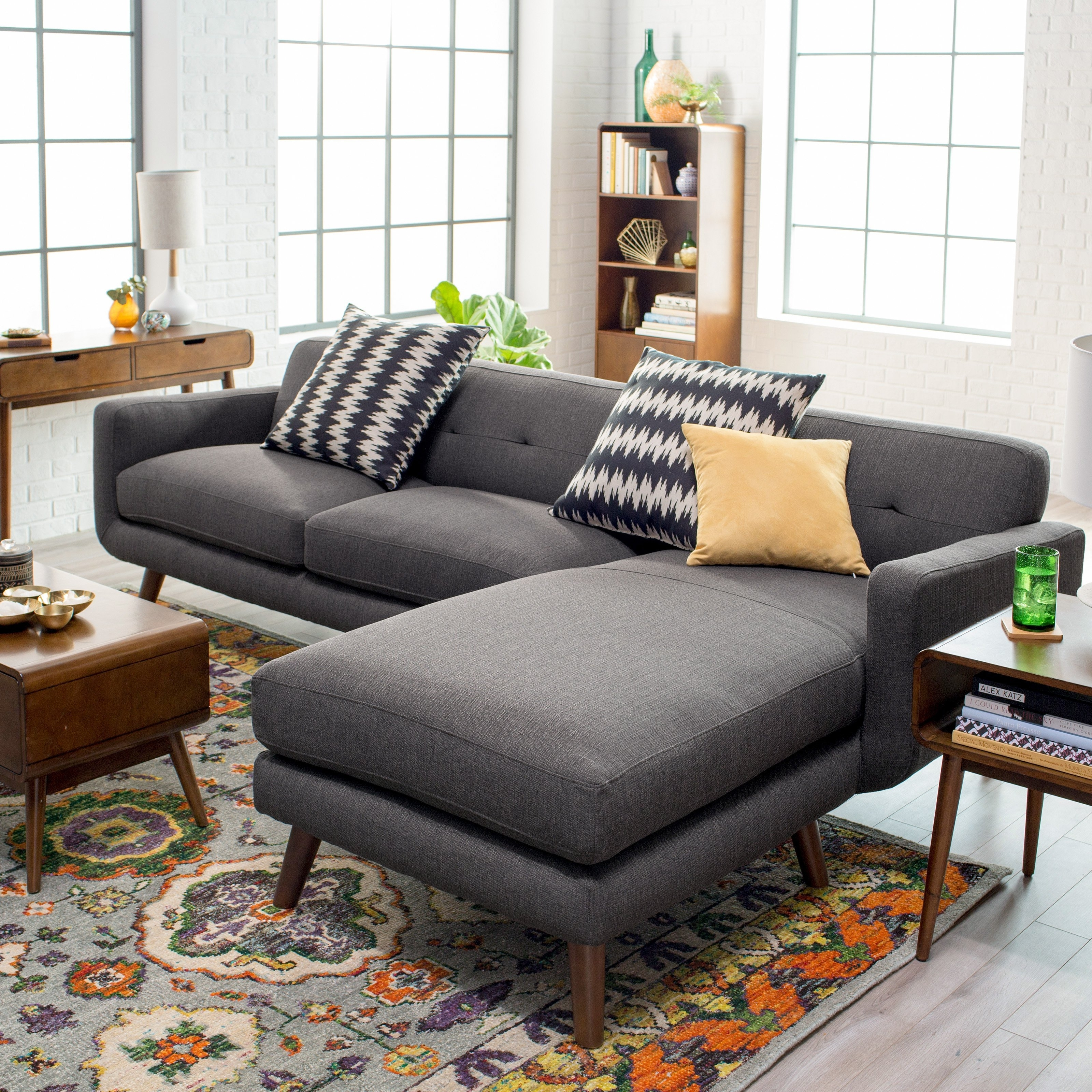Dorel Living Small Spaces Configurable Sectional Sofa | Hayneedle within Sectional Sofas (Image 3 of 10)