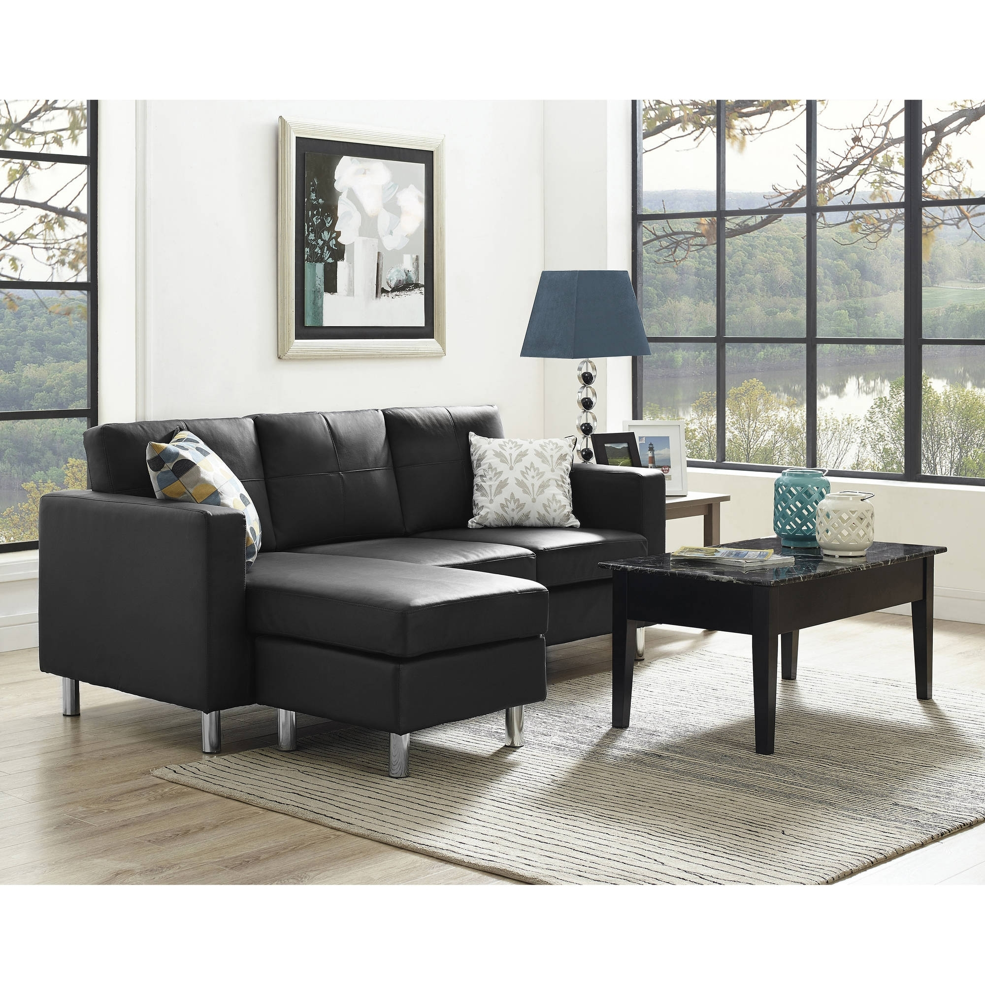 Dorel Living Small Spaces Configurable Sectional Sofa, Multiple Regarding Small Sectional Sofas With Chaise And Ottoman (View 3 of 15)