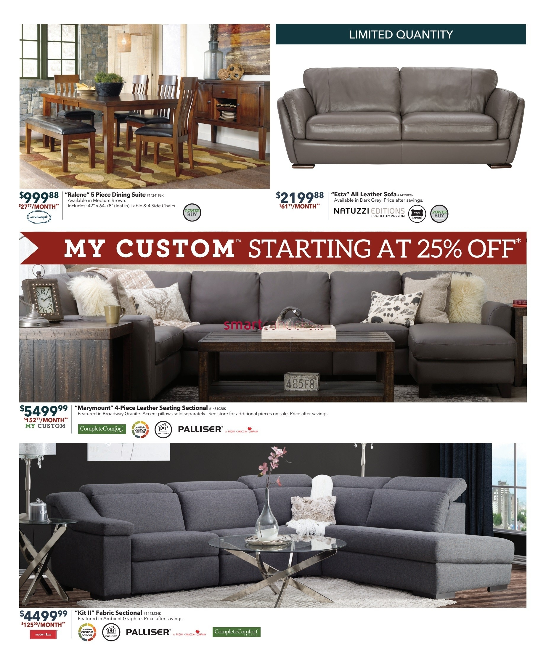 Dufresne (Winnipeg & Ottawa) Flyer December 1 To 11 with regard to Dufresne Sectional Sofas (Image 3 of 10)