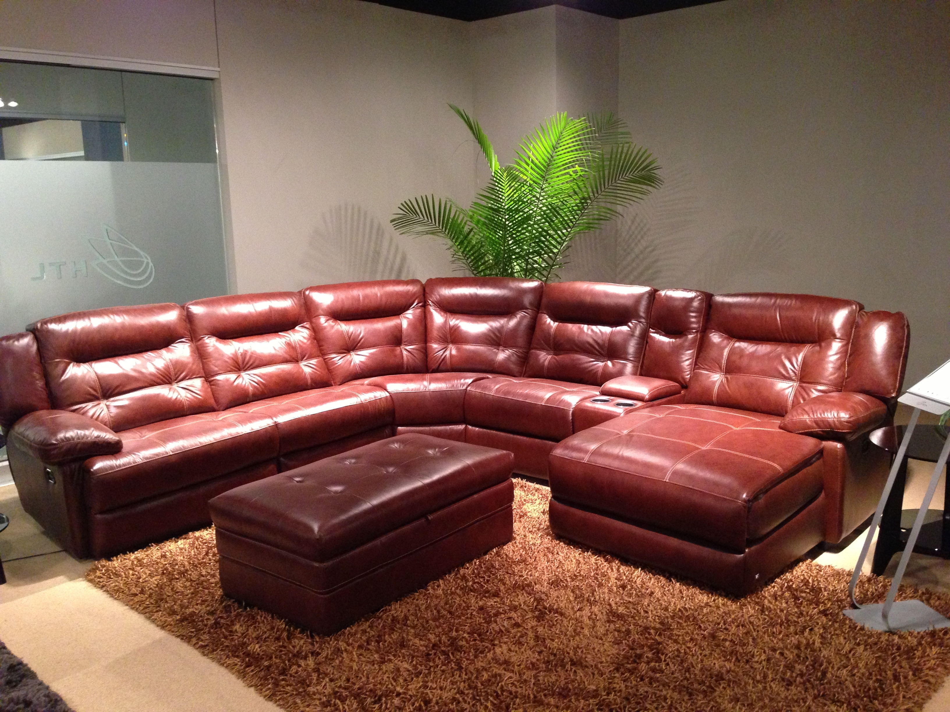 Durango Leather Sectional | | Creative Leather Furniture | Home throughout Red Leather Sectionals With Ottoman (Image 5 of 15)