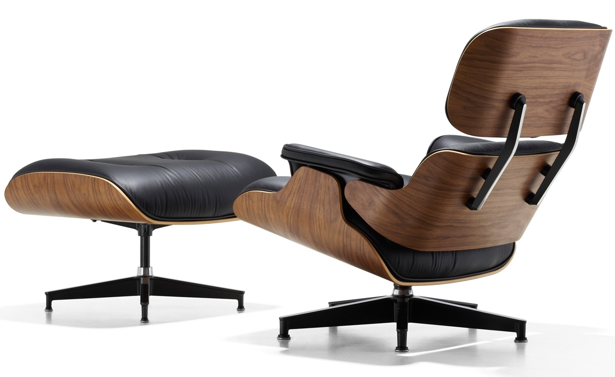 Eames® Lounge Chair & Ottoman - Hivemodern throughout Chairs With Ottoman (Image 8 of 15)