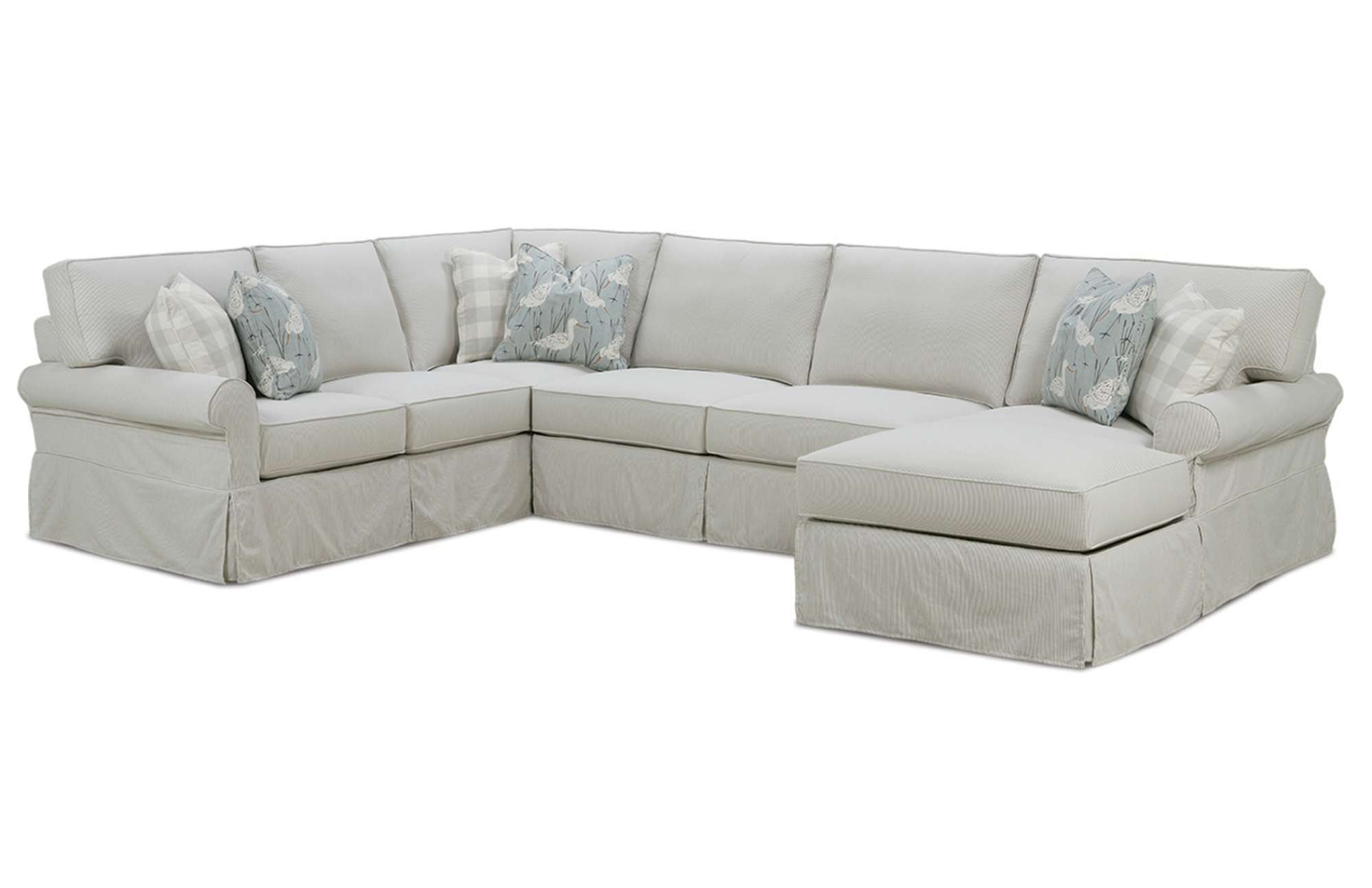 Easton Slipcover Sectionalrowe Furniture Intended For Furniture Row Sectional Sofas (Photo 4 of 10)