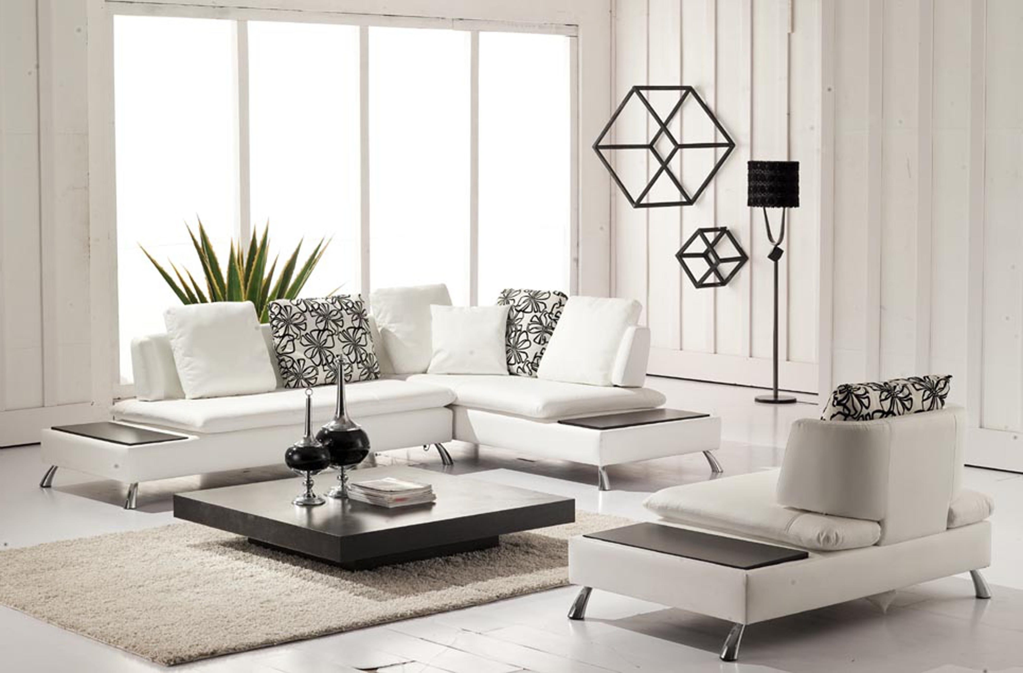 El Dorado Sectional Sofas Glass Table On Laminate Flooring White Regarding El Dorado Sectional Sofas (View 5 of 10)