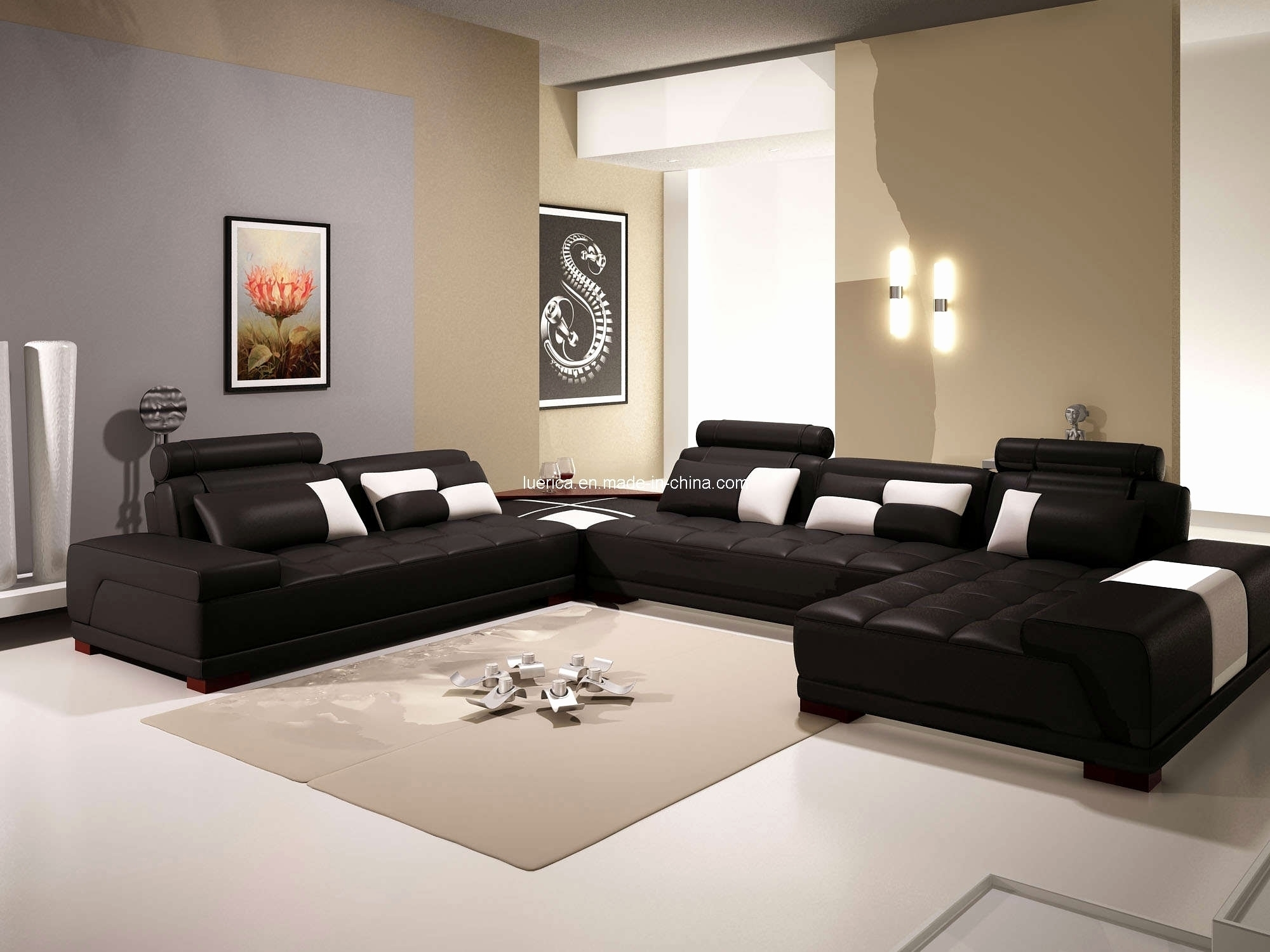 Elegant Leather U Sectional 2018 – Couches And Sofas Ideas in Deep U Shaped Sectionals (Image 6 of 15)