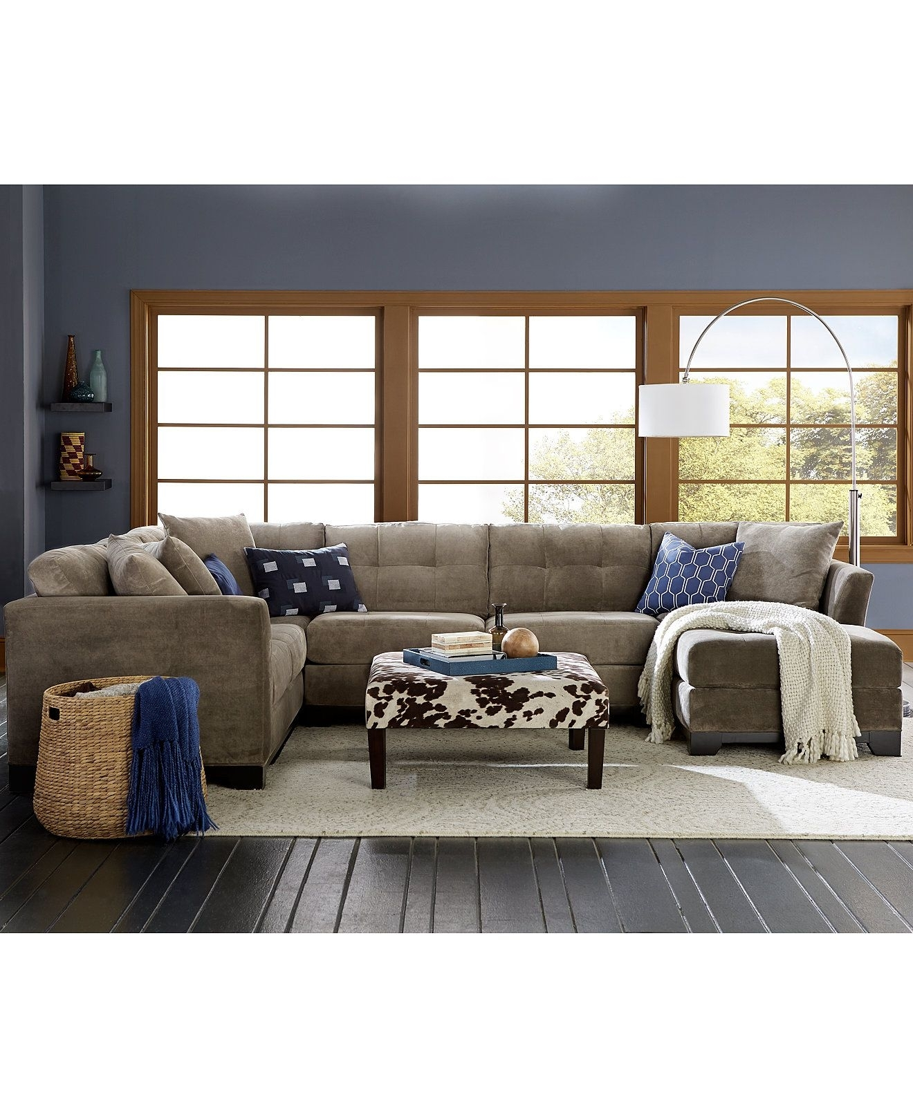 Elliot Fabric Sectional Collection, Created For Macy's | Sectional Regarding Macys Sectional Sofas (Photo 10 of 10)
