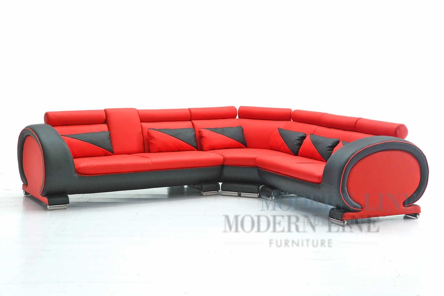 Emejing Red And Black Leather Sectional Gallery – Liltigertoo Intended For Red Black Sectional Sofas (View 8 of 10)