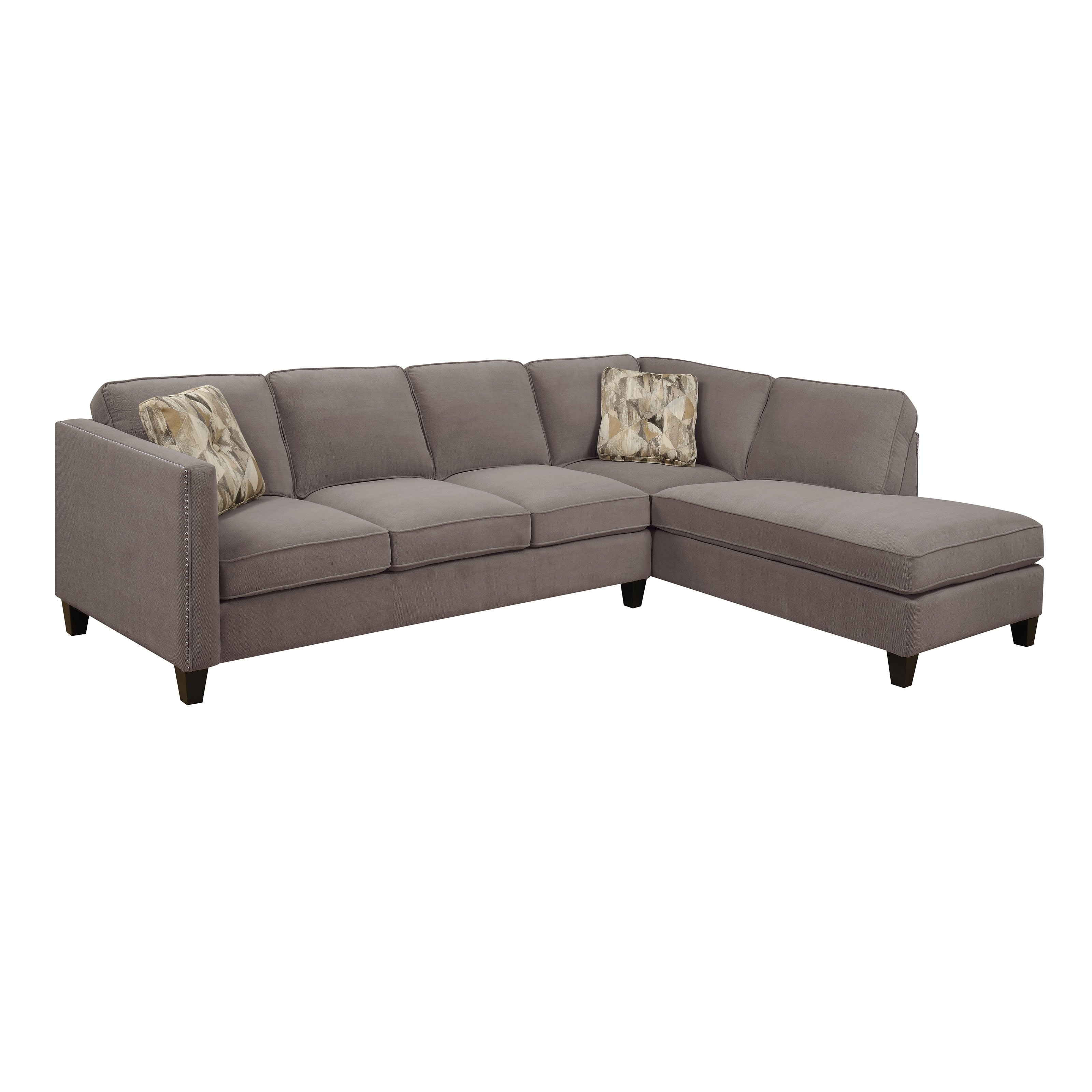 Emerald Home Focus 2 Piece Sectional Sofa With Chaise - Walmart regarding Dufresne Sectional Sofas (Image 10 of 10)
