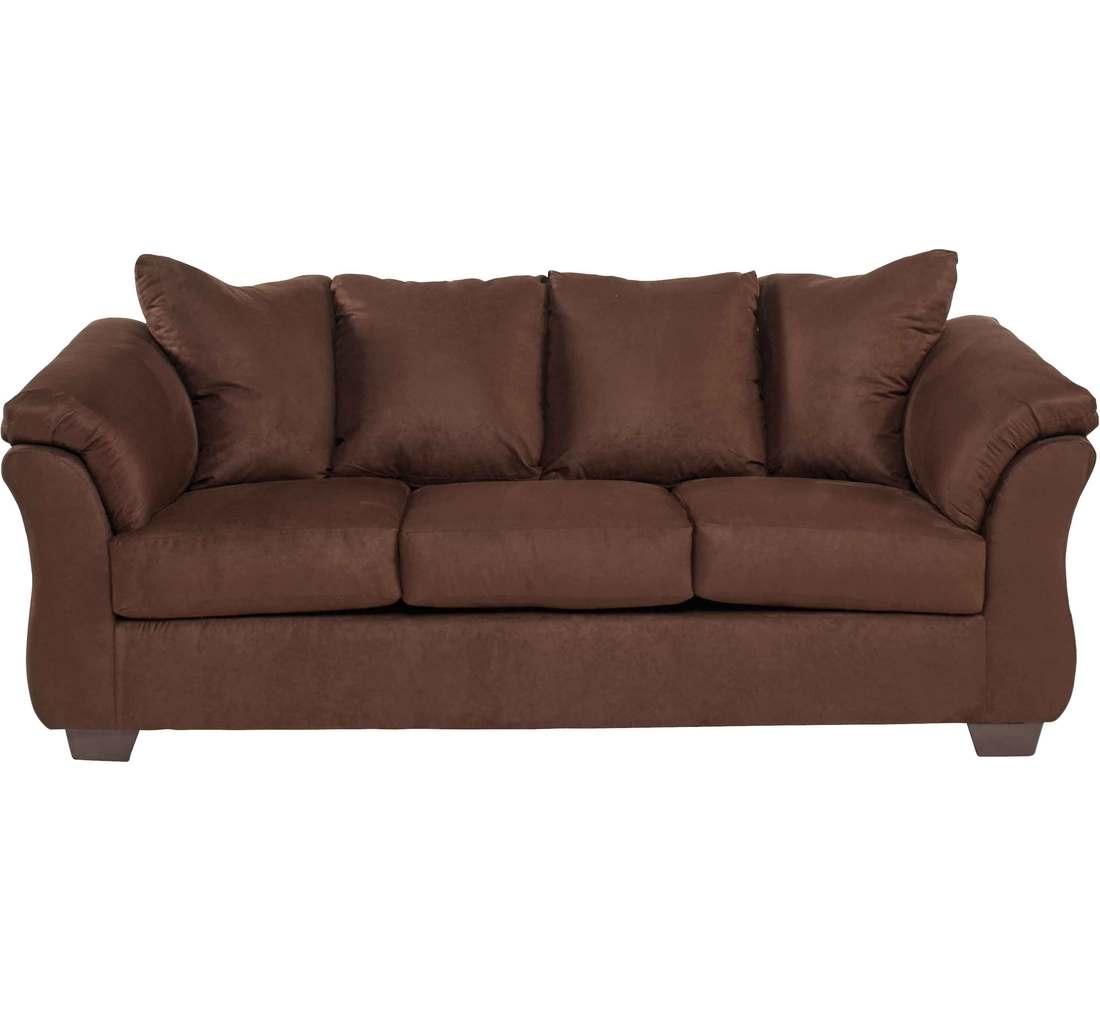 Emma Chocolate Sofa | Badcock &more With Regard To Sectional Sofas At Badcock (View 6 of 15)