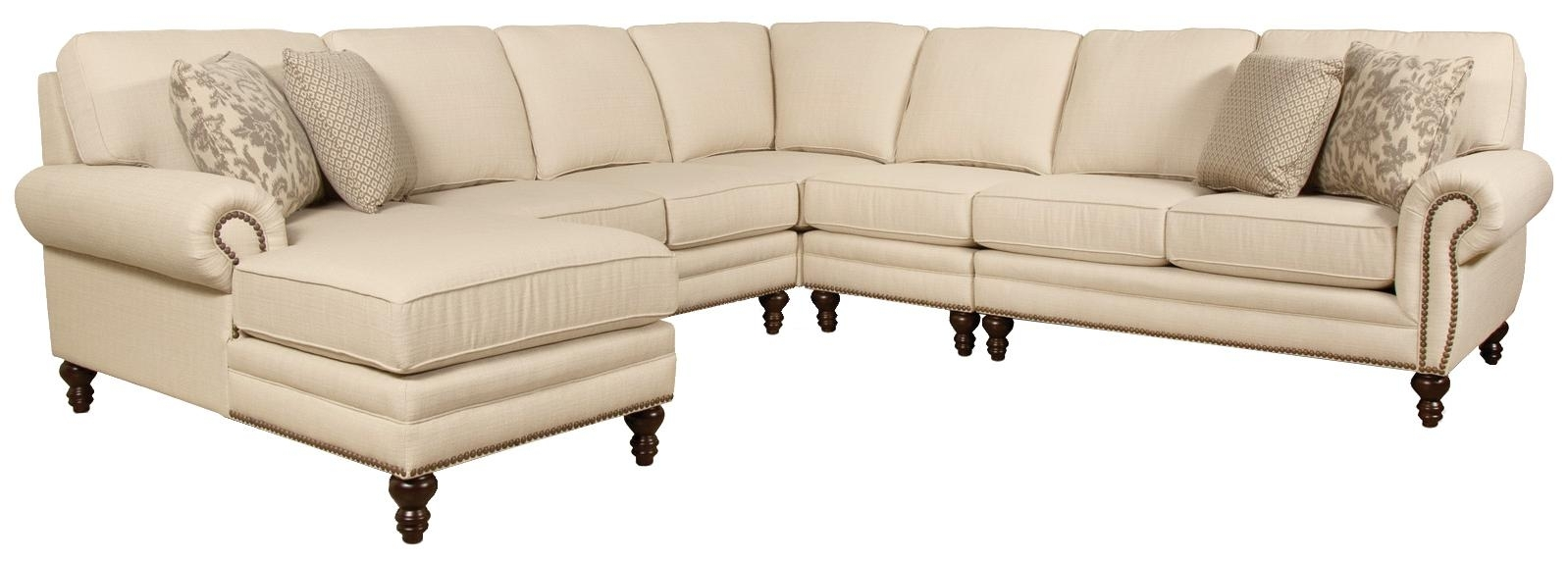 England Amix Seven Seat Sectional Sofa With Left Side Chaise   Ahfa Regarding Sectional Sofas With Nailhead Trim (Photo 5 of 10)