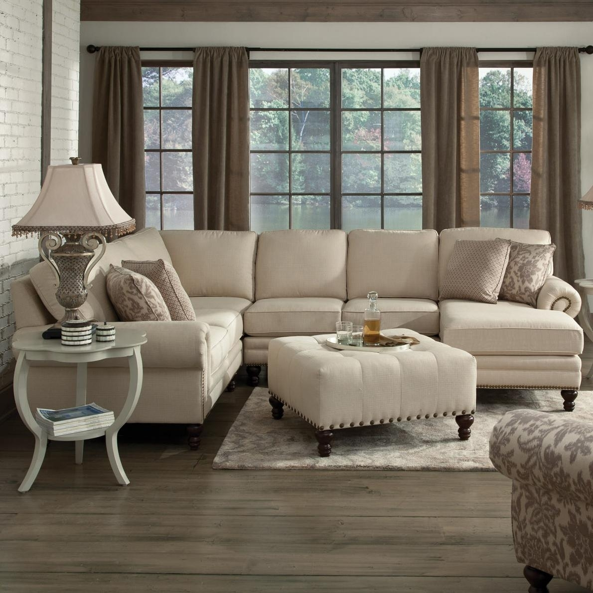 England Amix Six Seat Sectional With Right Chaise | Dunk & Bright Within England Sectional Sofas (Photo 8 of 10)