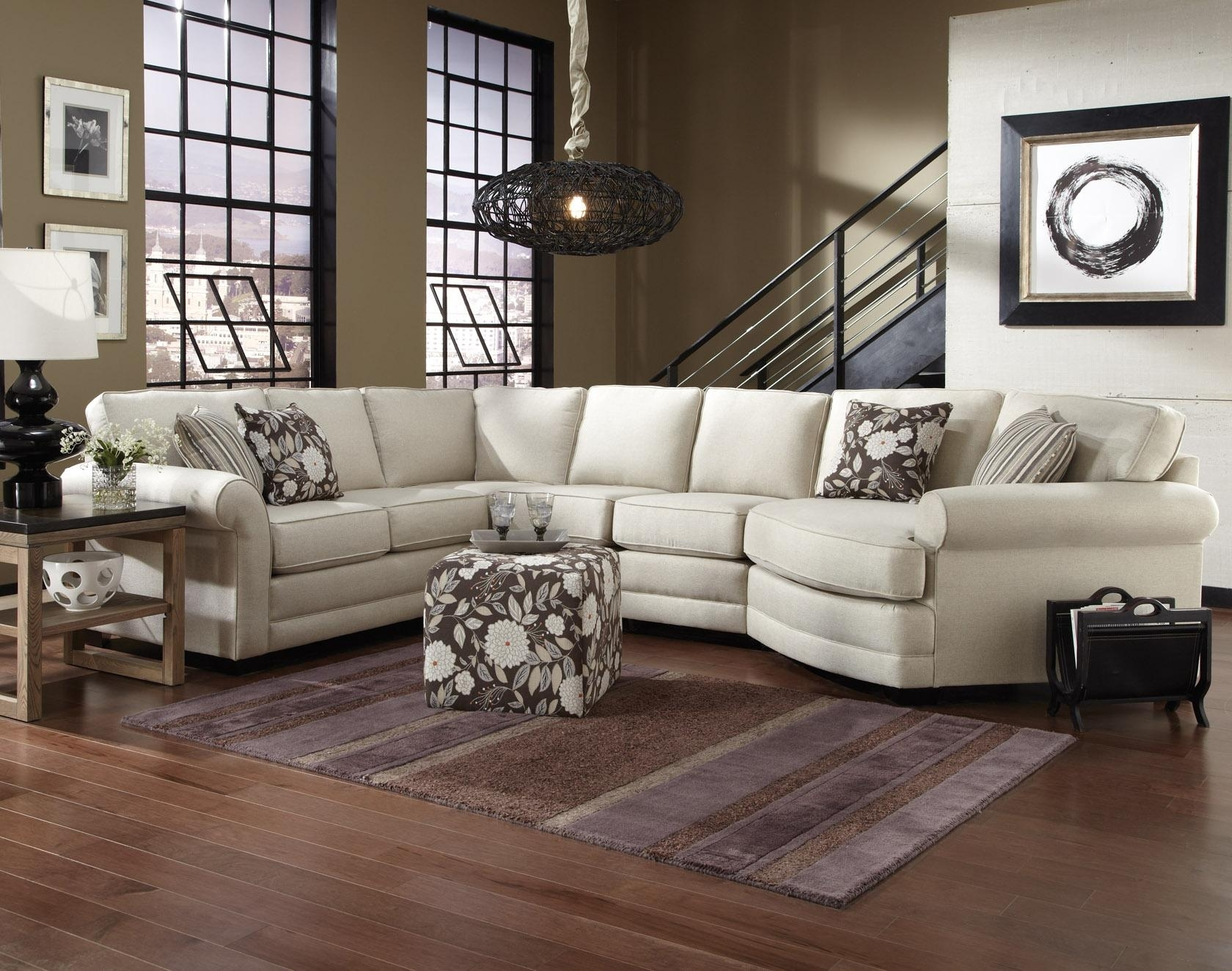 England Brantley 5 Seat Sectional Sofa With Cuddler | Dunk & Bright regarding Sectional Sofas With Cuddler (Image 4 of 10)