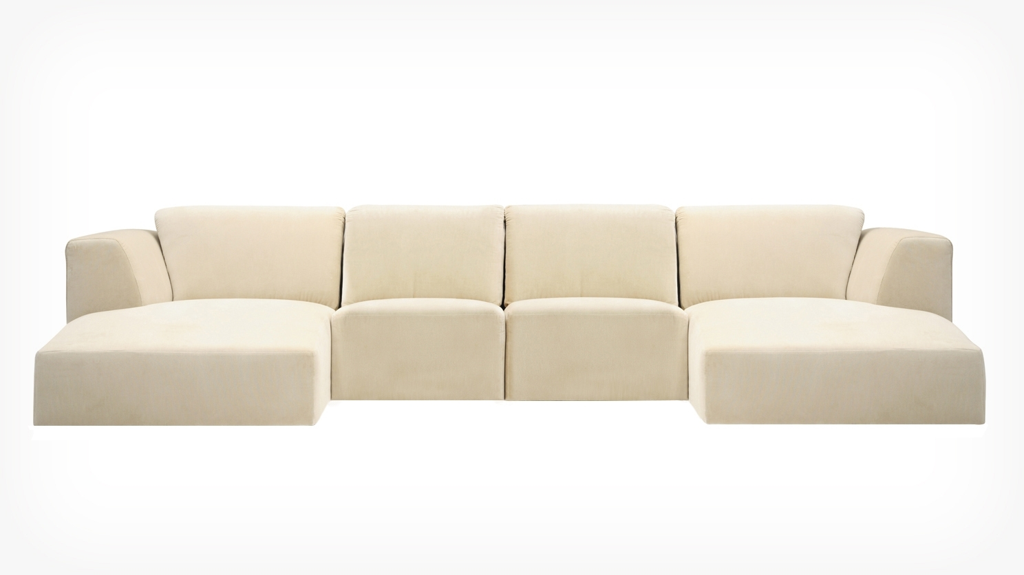Eq3 | Morten 4 Piece Sectional Sofa With Chaise – Fabric In Eq3 Sectional Sofas (View 7 of 10)