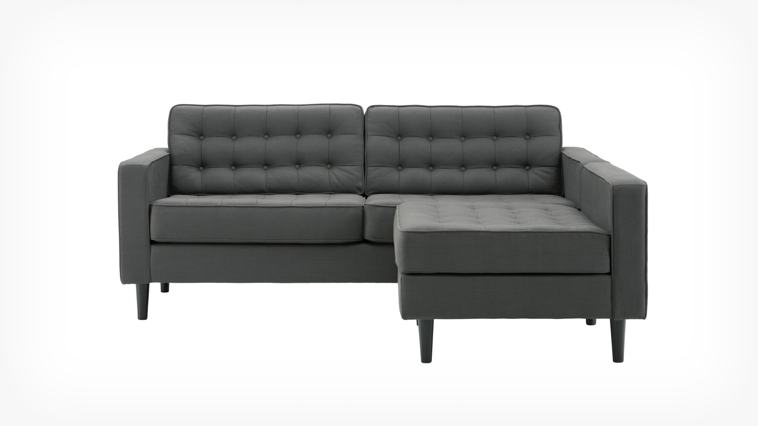 Eq3 | Reverie Apartment 2-Piece Sectional Sofa With Chaise - Fabric within Apartment Sectional Sofas With Chaise (Image 6 of 10)