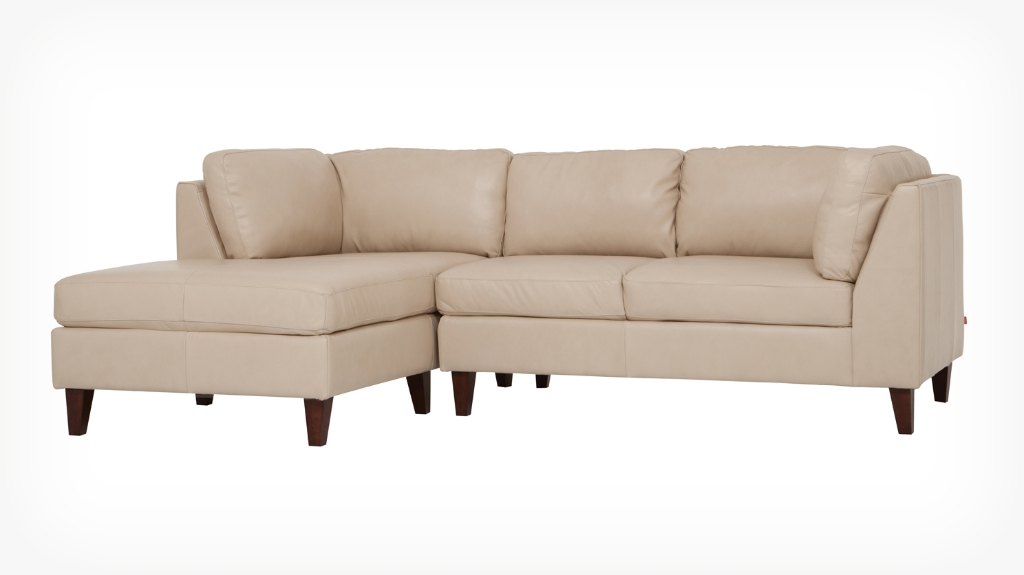 Eq3 | Salema 2 Piece Sectional Sofa With Chaise – Leather With Regard To Eq3 Sectional Sofas (View 10 of 10)