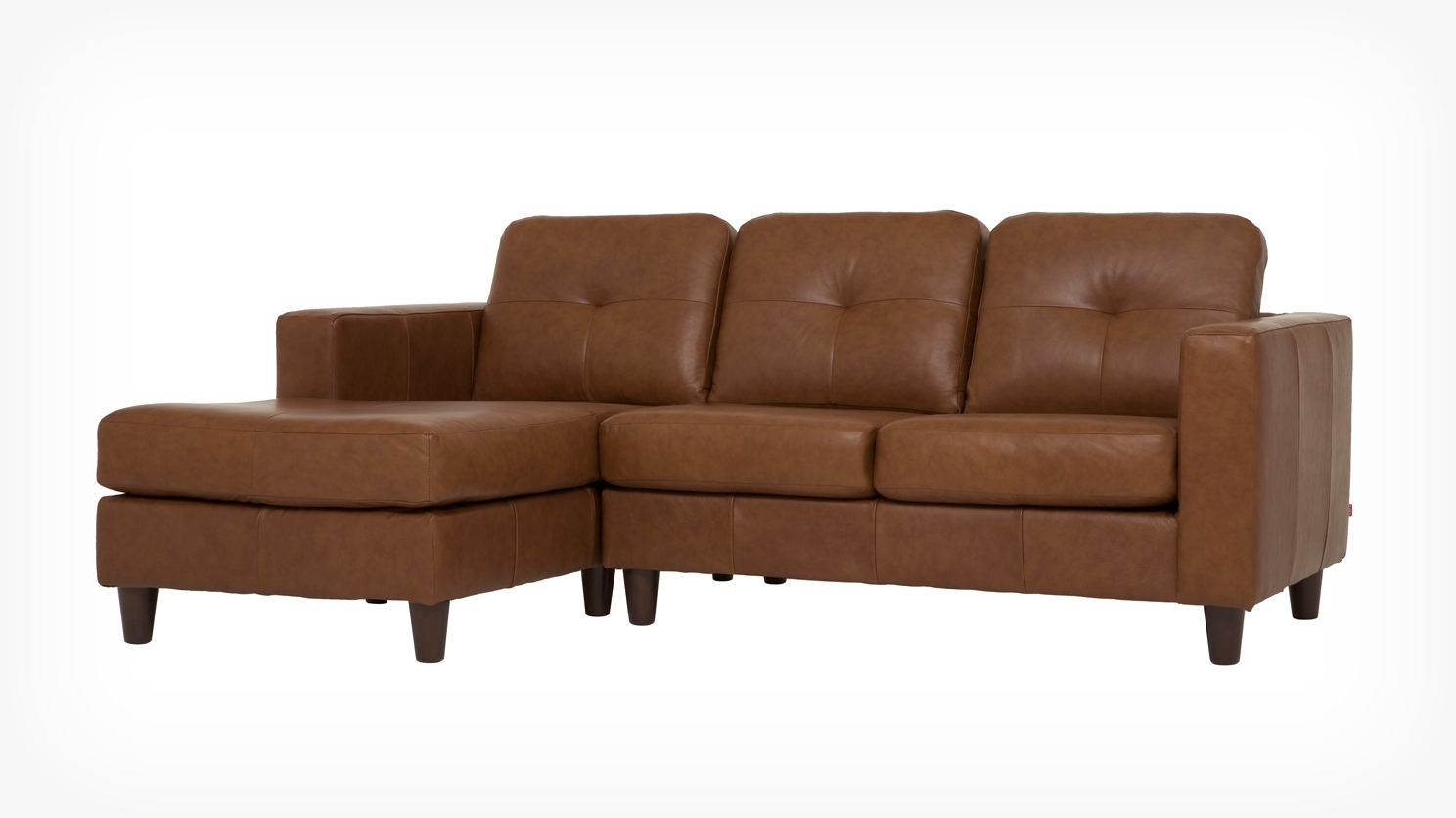 Eq3 | Solo 2 Piece Sectional Sofa With Chaise – Leather Pertaining To Halifax Sectional Sofas (View 7 of 10)