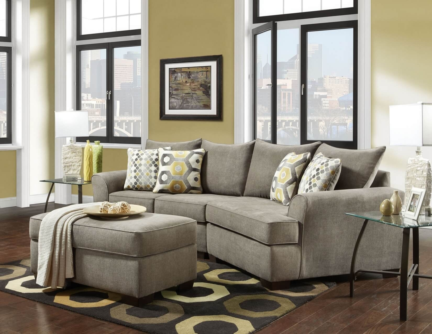 Essence Platinum 3 Pc Cuddler Sectional | Sectional Sofa Sets regarding Cuddler Sectional Sofas (Image 6 of 10)