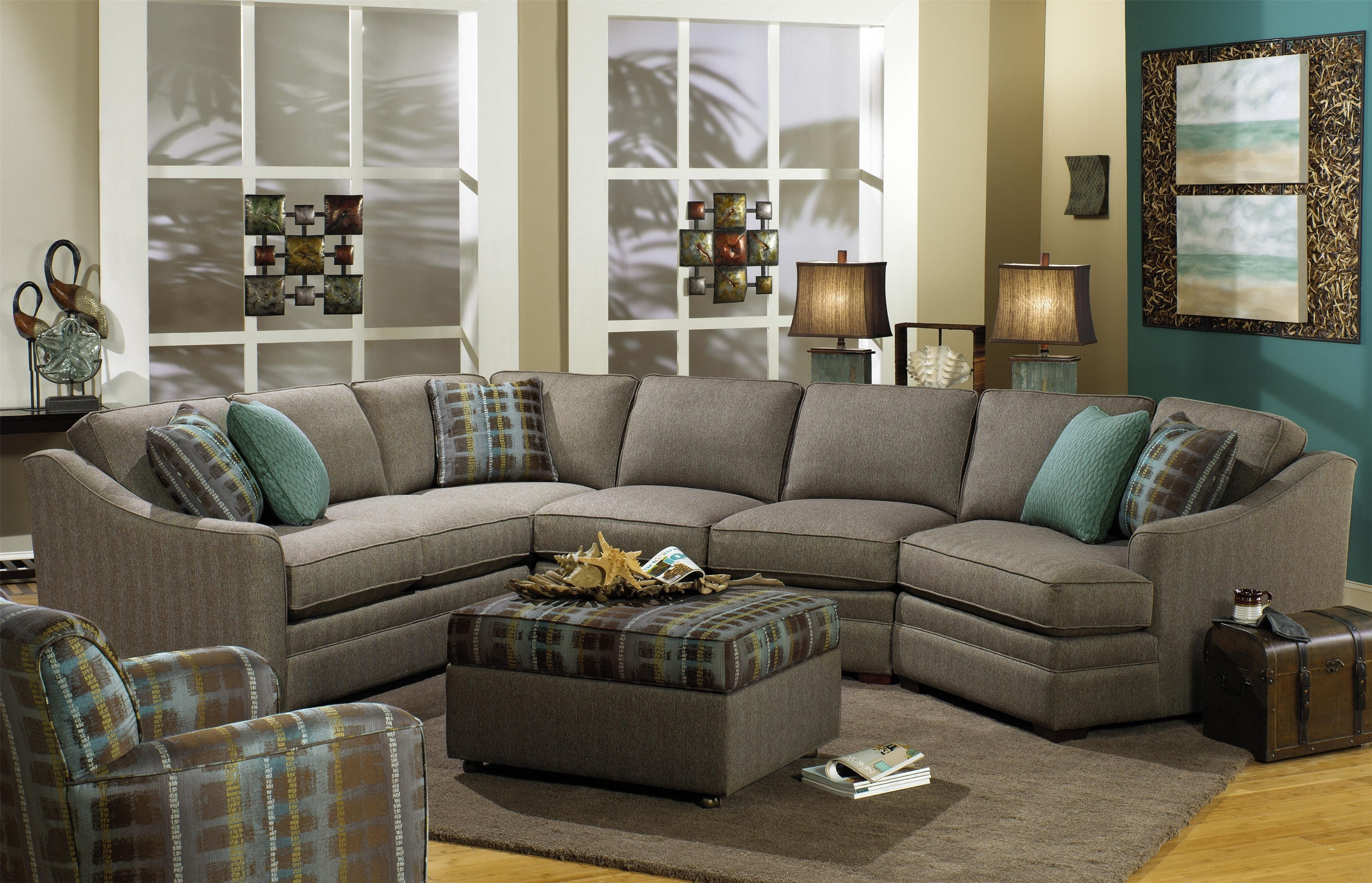 F9 Custom Collection Customizable 3 Piece Sectional With Laf Cuddler In Virginia Sectional Sofas (View 7 of 10)