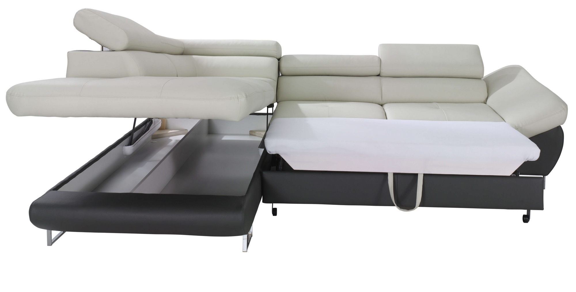 Fabio Sectional Sofa Sleeper With Storage, Creative Furniture Within Sectional Sofas With Sleeper (View 2 of 10)