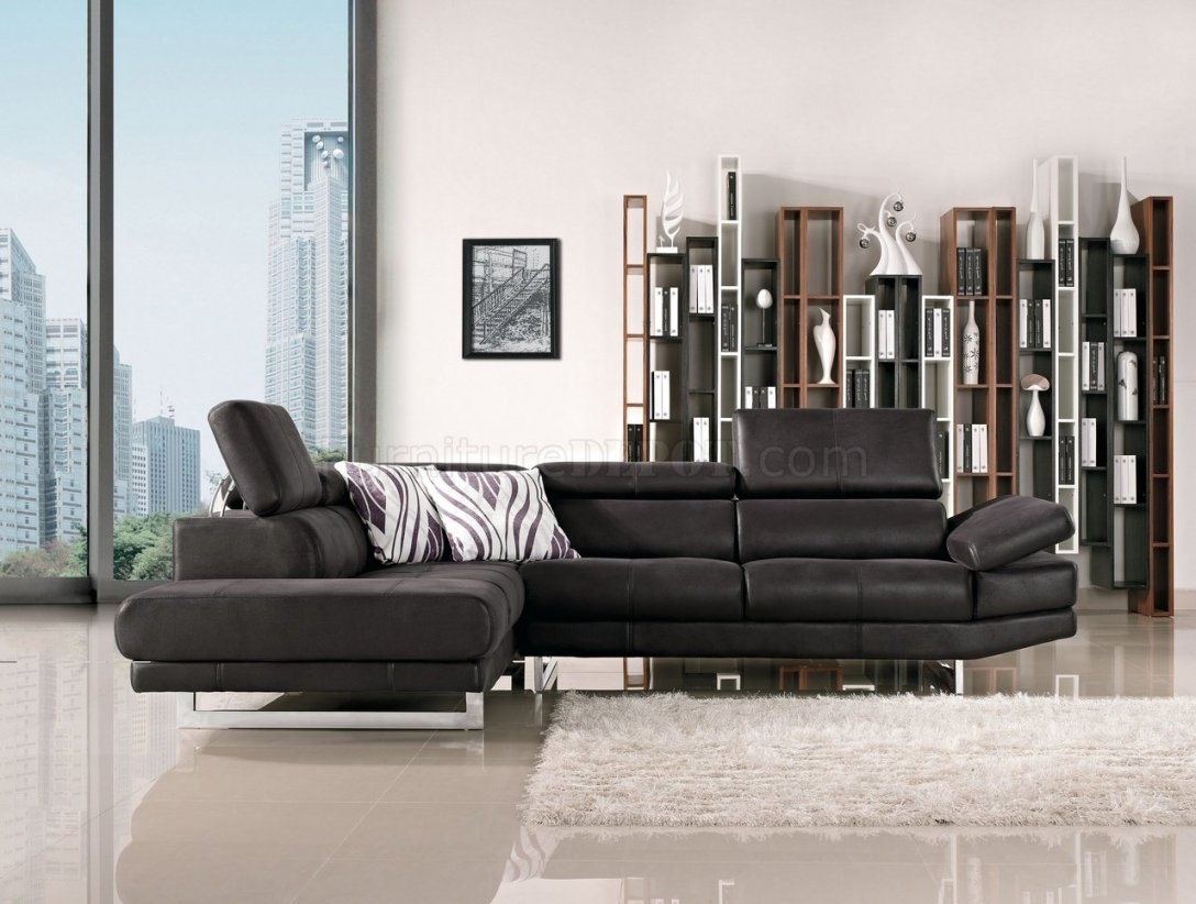 Fabric Modern Sectional Sofa W/adjustable Headrest Throughout Intended For Nyc Sectional Sofas (View 5 of 10)