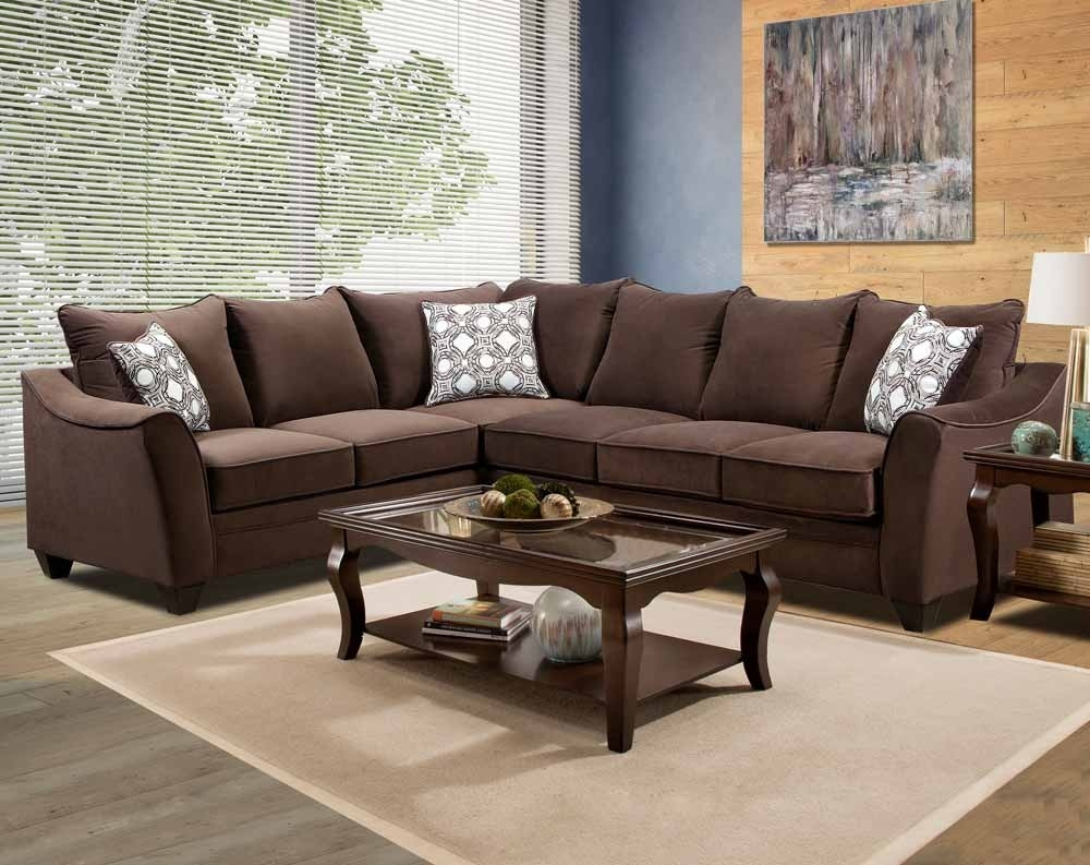 Factor Chocolate 2 Pc. Sectional Sofa | American Freight pertaining to Chocolate Sectional Sofas (Image 6 of 15)