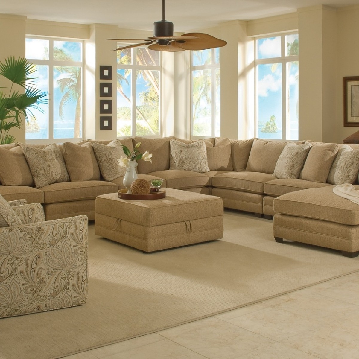 Factors To Consider Before Buying An Extra Large Sectional Sofa intended for Sectional Couches With Large Ottoman (Image 9 of 15)