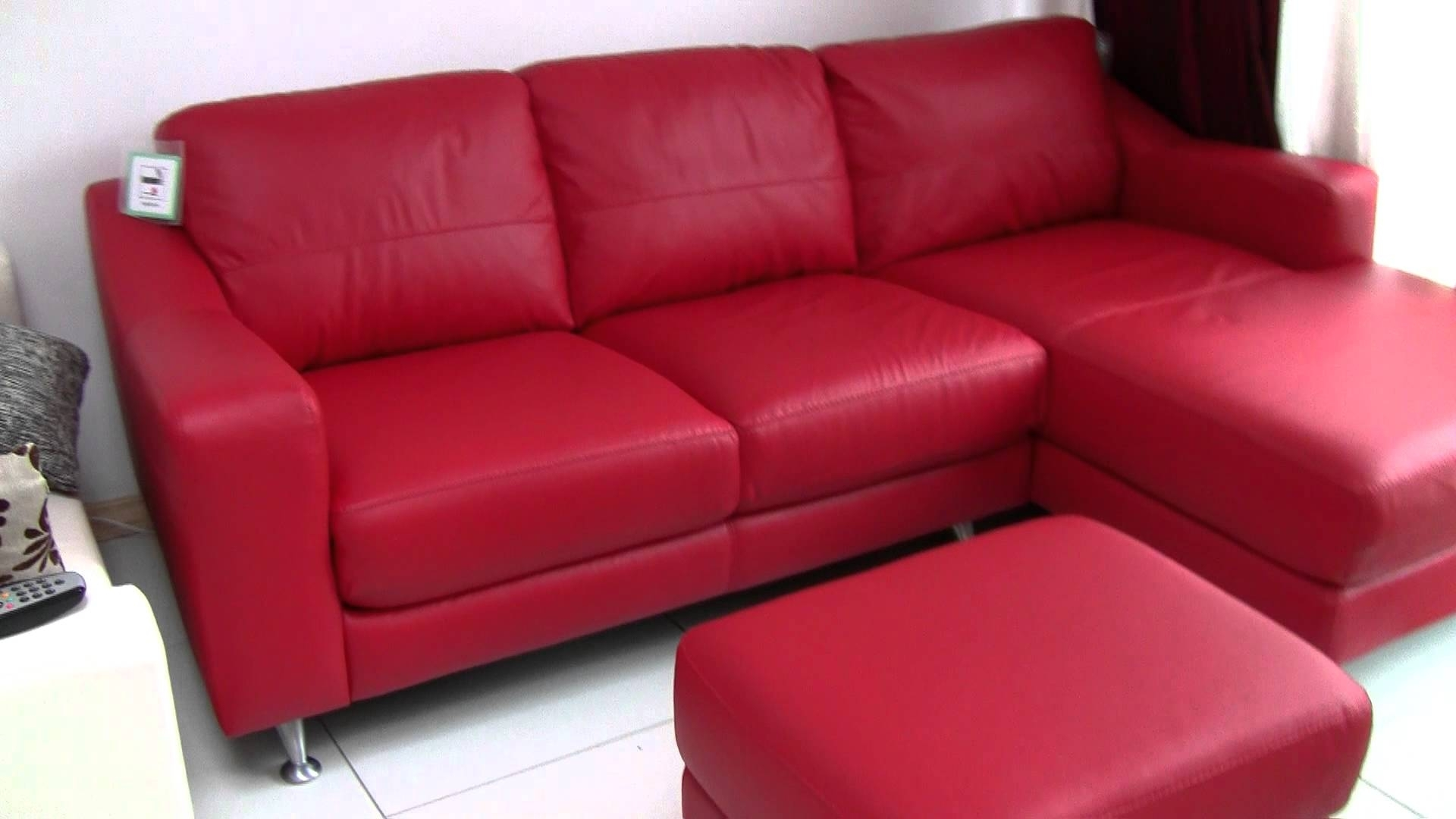 Fascinating Dfs Leather Corner Sofa For Pic Of Red Inspiration And intended for Red Leather Couches (Image 4 of 15)