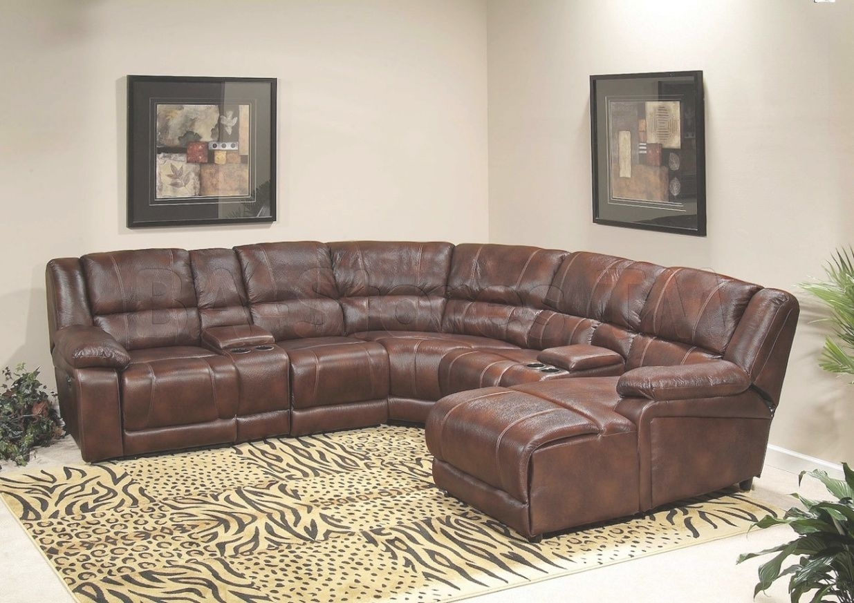 Fascinating Sectional Sleeper Sofa With Recliners Leather Image For Within Sectional Sofas With Recliners Leather (View 5 of 10)