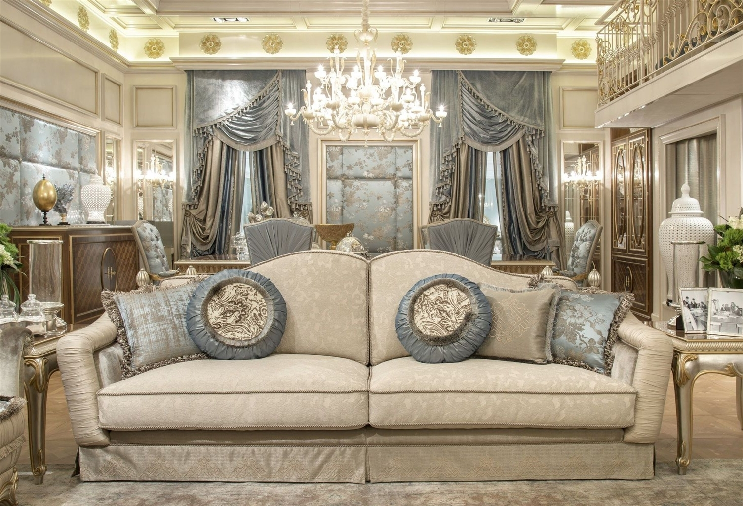 Fine Fabrics Highlight This Extraordinary Hand Made Luxury Sofa. with Luxury Sofas (Image 4 of 10)