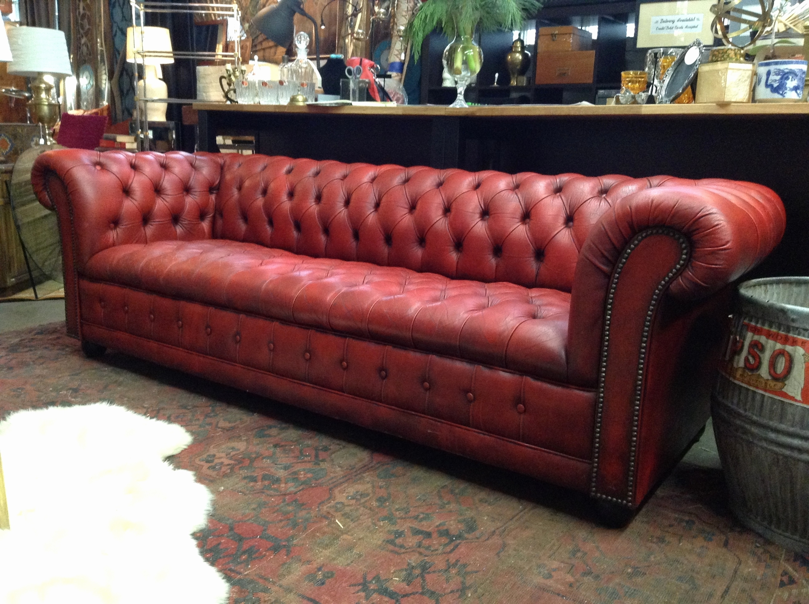 Fresh Luke Leather Sofa 2018 – Couches And Sofas Ideas with regard to Red Leather Couches and Loveseats (Image 4 of 15)