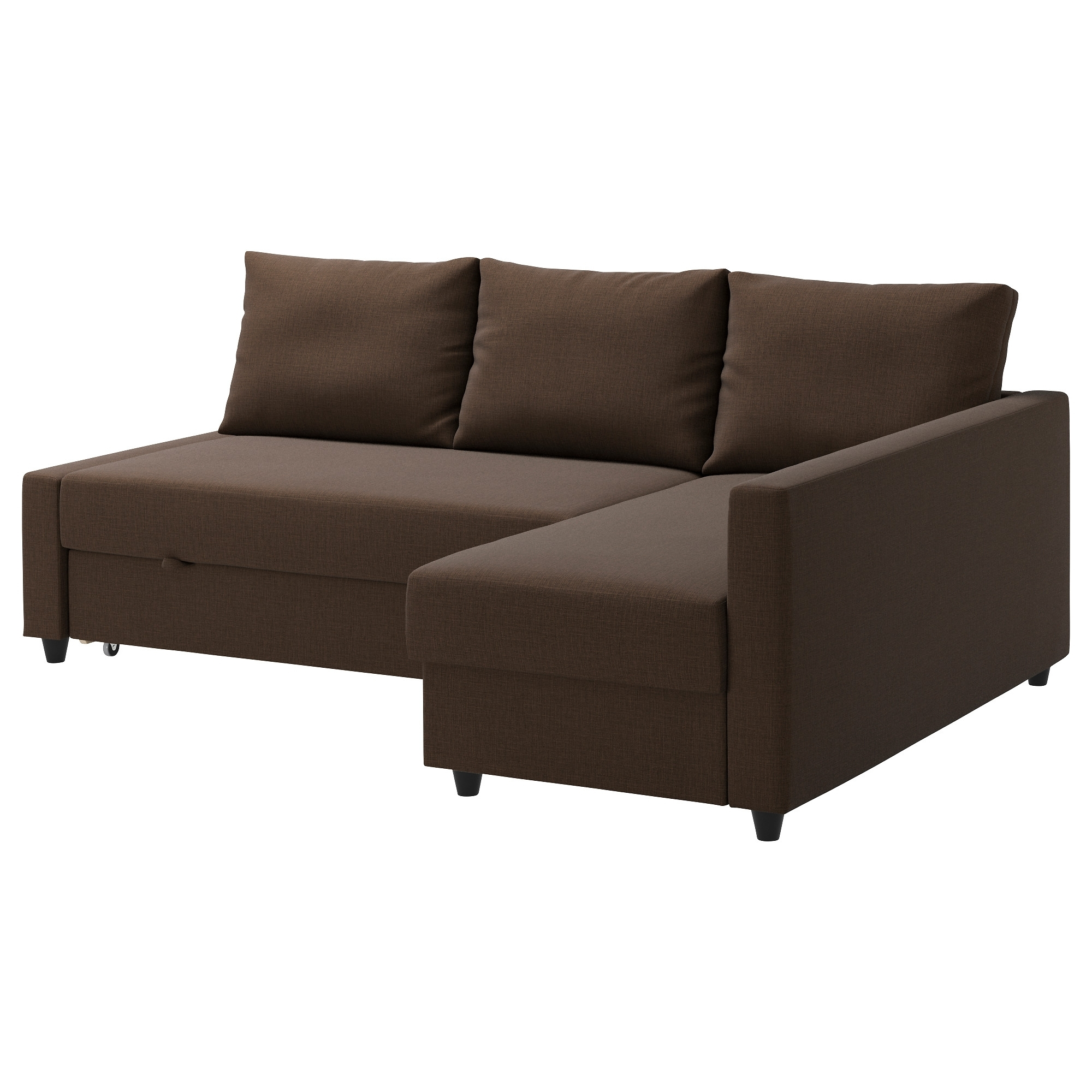 Friheten Corner Sofa-Bed With Storage Skiftebo Brown - Ikea for Ikea Corner Sofas With Storage (Image 6 of 10)